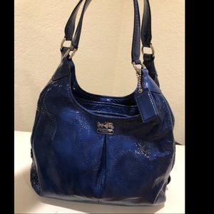 Beautiful blue coach purse